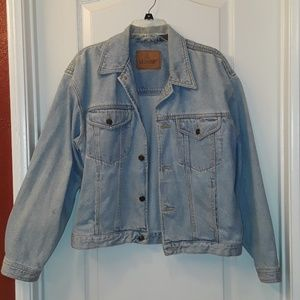 Vintage LizWear Faded Button-Down Jean Jacket
